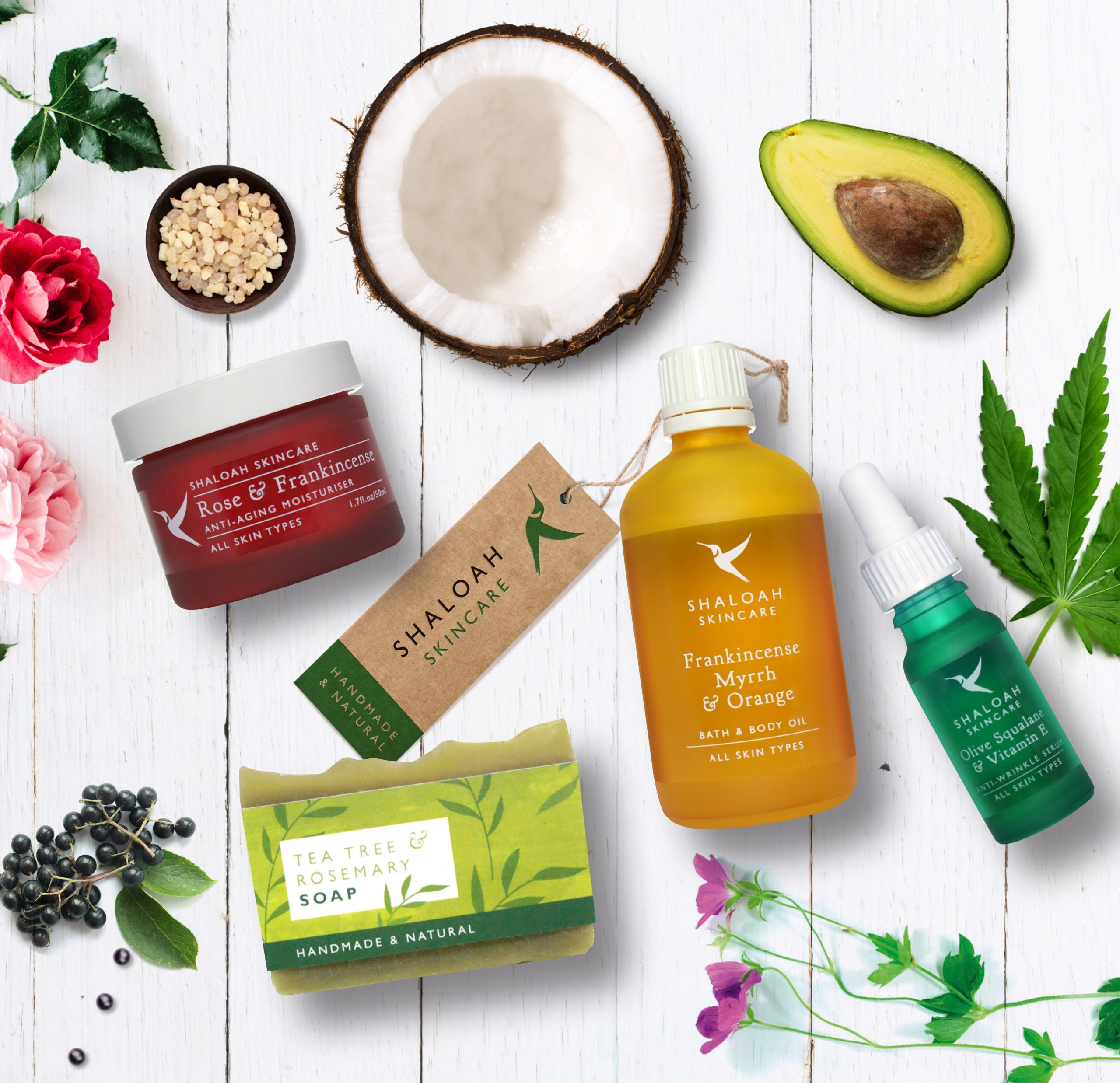 Luxury Natural Skincare Gift Set Of 4 Full Size Products