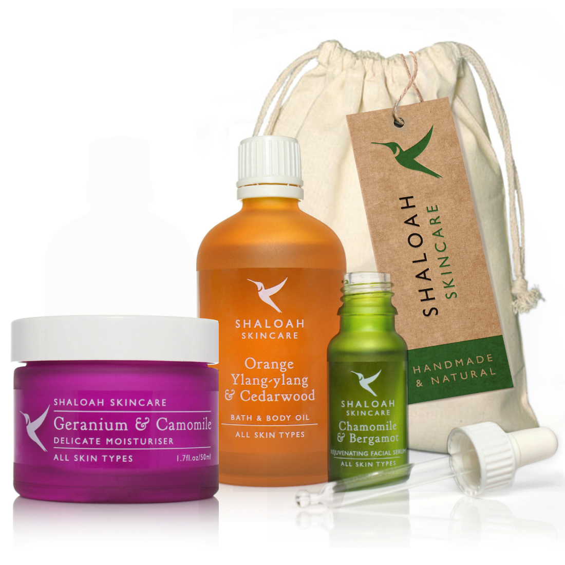 Luxury Natural Skincare Gift Set Of 3 Full Size Products